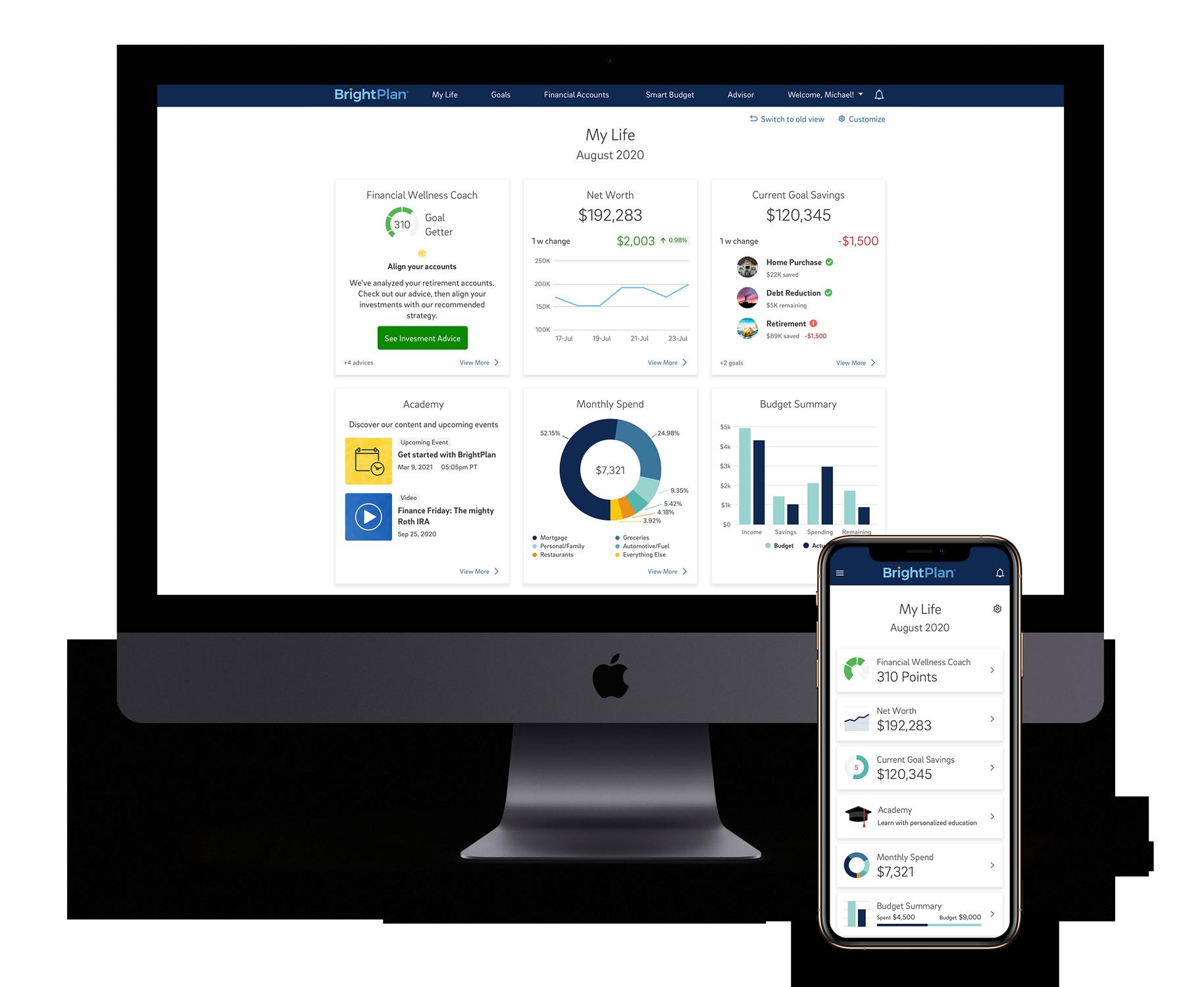 Brightplan homepage redesign
